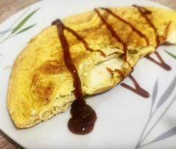 Jajčna tortilija s šunko in sirom